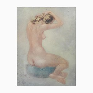 Mid-Century Nude Lady Lithography by Cassinari Vettor