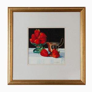 Brian Keany 1945-2007, Erdbeeren, Aquarell