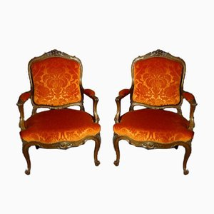 Armchairs in Louis XV Style, Set of 2