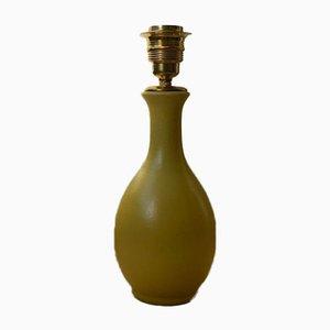 Gelbe Skulpturale Keramiklampe von Bo Fajans, 1940er