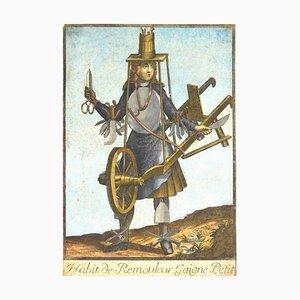 Unknown, Habit De Remouleur Gaigne Petit, Etching, Late 17th Century