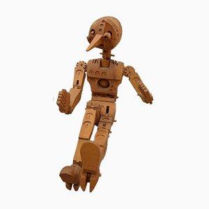 Ferdinand Codognotto, Pinocchio, Skulptur aus Holz, 2007/2008