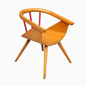 Vintage Beech Children's Chair from Baumann, 1962