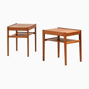 Tables de Chevet Model Dixi par Gunnar Myrstrand pour Tingströms, Sweden, Set de 2