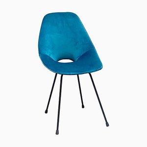 Medea Chair in Green Velvet by Vittorio Nobili, 1956, Italy