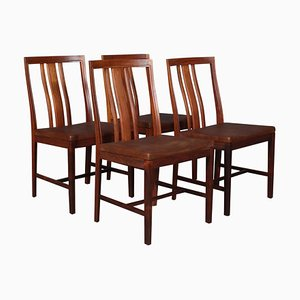 Rosewood Dining Chairs by Bertil Fridhagen, Set of 4