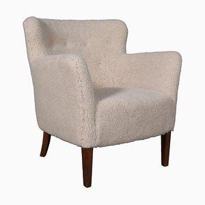 Lounge Chair in Sheepskin by Jacob Kjær
