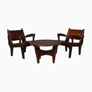 Ecuadorian Lounge Set by Angel Pazmino, Set of 2