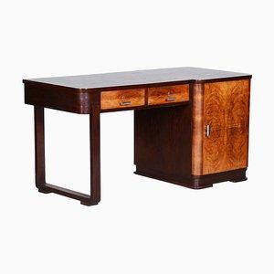 Oak and Walnut Veneer Desk, 1930s