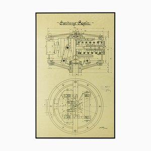 Original Technical Drawing of Hartungs Regulator, 1925