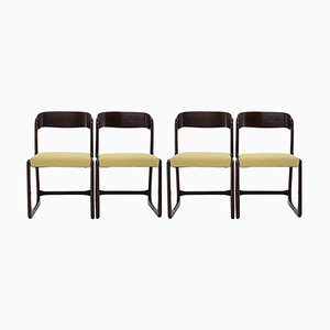 French Baumann Dining Chairs, 1960s, Set of 4