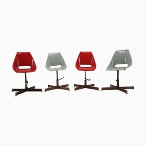 Revolving Industrial Chairs, 1960s, Set of 4