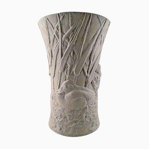 Colossal Saxbo Stoneware Vase by Hugo Liisberg