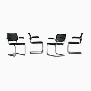 Chaise Cantilever Bauhaus Noire S64 N par Marcel Breuer pour Thonet