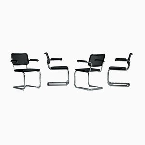 Thonet S64 N Cantilever Bauhaus Black Chair by Marcel Breuer