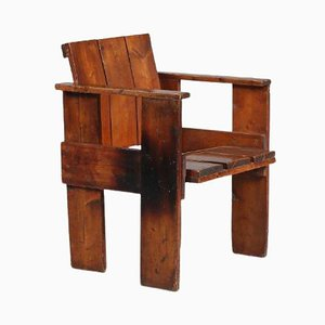 Crate Chair by Gerrit Rietveld, The Netherlands, 1950s