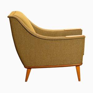 Grüner Eichenholz Stuhl von Folke Ohlsson für DUX, Schweden, 1960er