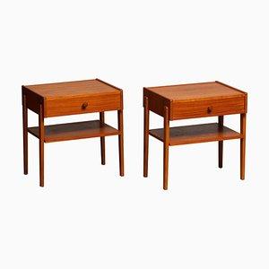 Teak Nightstands from Carlström & Co Möbelfabrik, Sweden, 1950s, Set of 2