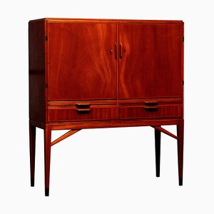 High Mahogany Dry Bar / Cabinet from Marbo Sweden, 1950s