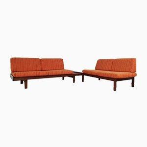 Mid-Century Modular 2-Piece Corner Sofa Set by Guy Rogers, Set of 2
