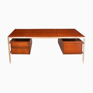 Chrome and Rosewood Desk by Preben Fabricius and Jorgen Kastholm for BO-EX