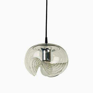 Transparent Glass Pendant Lamp by Koch & Lowy for Peill and Putzler, 1960s