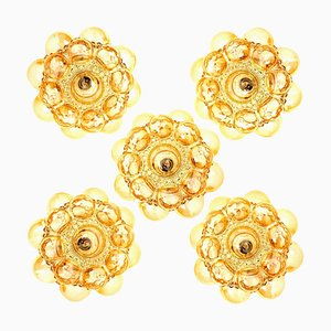 Amber Bubble Sconces by Helena Tynell, 1960s