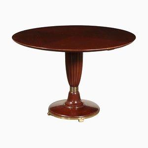 Tavolo in legno massiccio impiallacciato in mogano, Italia, anni '50