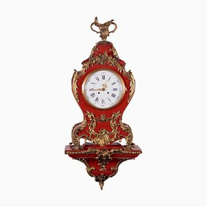 Clock in Late Baroque Style with Shelf