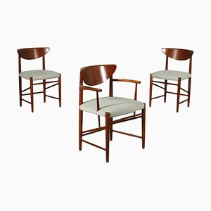 Teak and Foam Chairs, Italy, 1960s, Set of 3