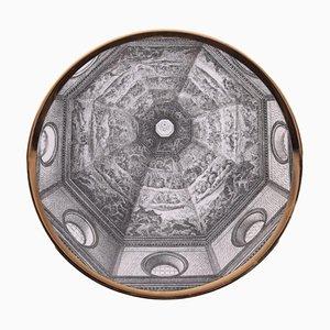 Dish by Piero Fornasetti, 1913-1989