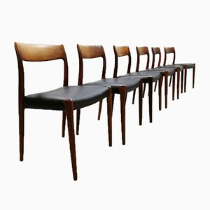Mid-Century Dining Chairs from Niels O Møbelfabrik, Set of 6