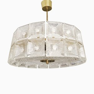 Two-Tier Chandelier by Carl Fagerlund for Orrefors