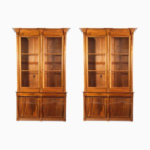 Walnut Library Cabinets, 1820s, Set of 2