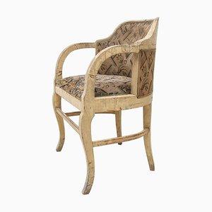 Art Nouveau Oak Armchair, 1910s
