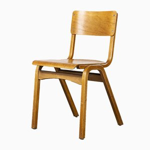 Tecta Stacking Dining Chairs in Beech Wood, 1950s, Set of 8