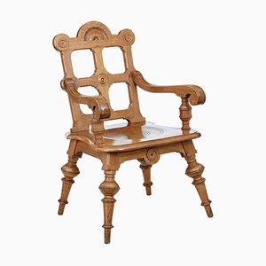 Late 19th Century Carved Oak Armchair