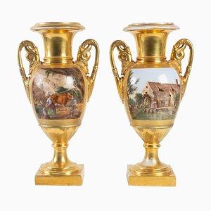 Large Empire Period Vases, Set of 2