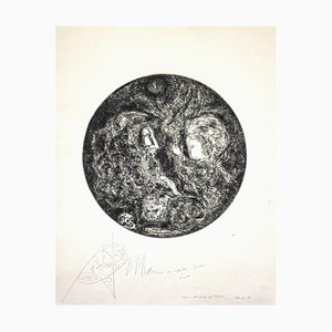 Gian Paolo Berto, Moses, Etching, 1974