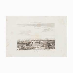 Unknown, View of Tarbes, Etching, 19th Century