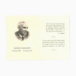 Unbekannt, Giorgio Morandis Death Notice, Vintage Offsetdruck auf Papier, 1964