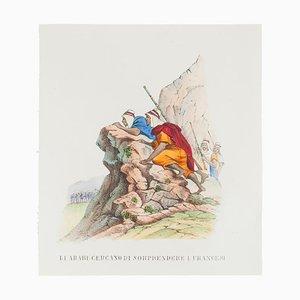 Unknown, Battle, Lithograph, 1846