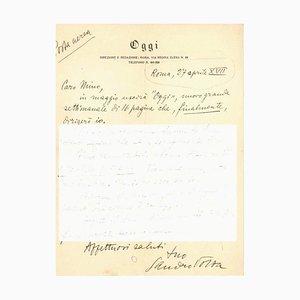 Sandro Volta, Letter from Sandro Volta To Mino Maccari, 1939
