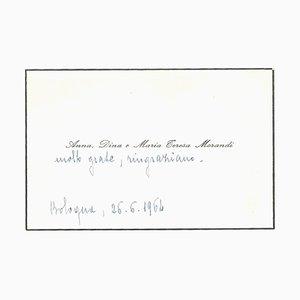 Morandi Sisters, Kondolenztelegramm von Giorgio Morandi, 1964