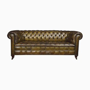 Leather Deep Buttoned Chesterfield Sofa