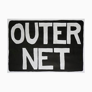 Outernet, Internet Era, Chinese Urban Style, 2021, Black Ink Painting