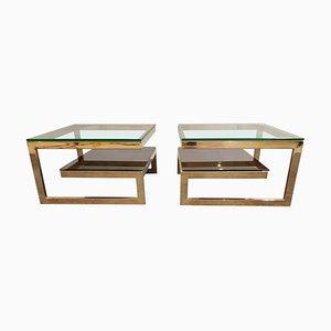 Golden G Side Tables from Belgochrom, Set of 2, 1970s