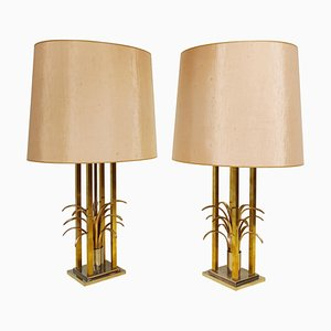 Vintage Brass Pineapple Table Lamps, 1970s, Set of 2