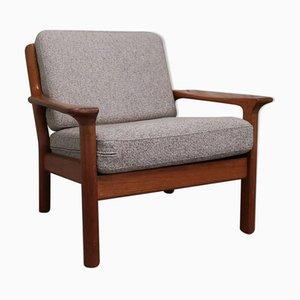 Scandinavian Solid Teak Armchair, 1960s
