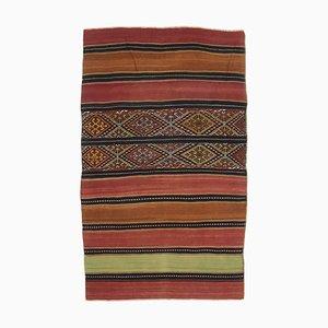 Turkish Vintage Kilim Small Area Carpet